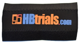 HBtrials - Chainstay protector (Orange & blue)